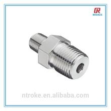stainless steel NPT/BSP/ISO male threaded reducer adapter