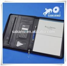 China manufacture A4 leather portfolio,leather file folders