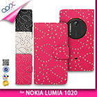 FLOWER PU LEATHER DIAMOND GLITTER WALLET MOBILE PHONE CASE COVER FOR NOKIA LUMIA 1020