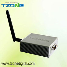 active 2.4G reader with multiple tags support rs 232 battery powered rfid reader