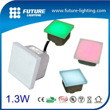 5 years guarantee CREE/Epistar chip 100*100 IP67 waterproof RGB color changing 12v led paving stone lights led floor tile light