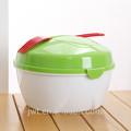 Simplicidade elegante verde boa qualidade tigela de plástico fabricantes