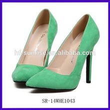 SR-14WHE1043 green nice ladies high heel shoes fashion high heel shoes for women china latest high heel ladies shoes