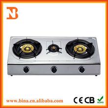 Wholesale restaurant equipment stainless steel gas stove 3 burner