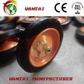 carrello pneumatici delle ruote in gomma piena rotella di gomma cuneo
