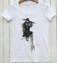 embroidered custom print t-shirt for women