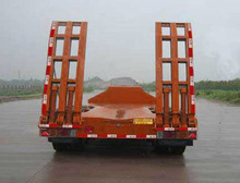 heavy machine transport extendable low bed trailer