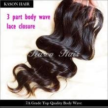3 Way Part Closure Unprocessed Virgin Brazilian Lace Closure With Bleached Knots Brazilian Hair Closure