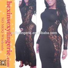 Drop shopping Manufacture Elegant long-sleeve-muslimah-abaya-maxi-dress