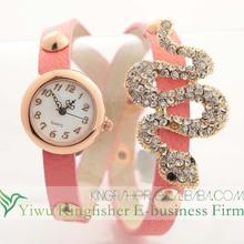 New Arrival crystal rhinestone leather western wrist watch, Ladies fancy leather wrist watch china supplies