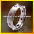 Belle dame anneau de pierre grenat, anneau pour la fête
