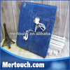 Vintage leather case for ipad mini jean stand smart cover Card slot case for Ipad 2 3 4