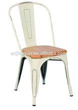 Vintage metal chair/wood seat chair/vintage chair