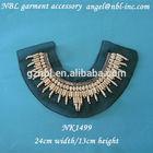 Beaded applique collar neck trim neckline trim for garments NK1499