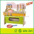 Cocina play juguetes conjunto/de madera de cocina fingir conjunto de juguete