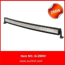 Curved LED light bar 50inch 288W,12/24V LED light bar,offroad car accessories,4x4 auto lighting,truck,4WD,JEEP,IP67