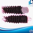 Hot sale cheap virgin brazilian human hair deep wave lace closure