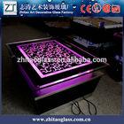 glass furniture LED tv table design