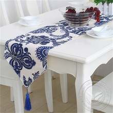 home new style embroidered ebay best selling lace and hessian burlap table runner