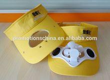 solar fan sun hat custom cap