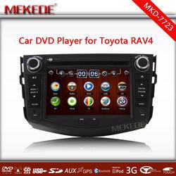 MTK 3336NCG CPU toyota RAV4 Car dvd player with GPS/BT/Radio/ 3G usb host /Ipod and 4GB map card+car radio +1080P video