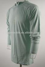 Comfortable bamboo fabric Long Sleeve Men's wholesale blank t shirt printing