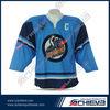 Custom-made sublimation printed polyester ice hockey jersey wholesale