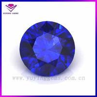 10mm Round dark blue cubic zirconia artificial tanzanite prices