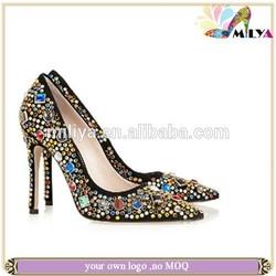 2014 HOT sale High Heel Women's Pump Crystal lady Wedding Shoes !!