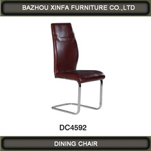 2014 Model hot selling good PU and chrome legs Dining chair designs DC4592