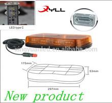New product! Thundering light lens 24v mini lightbar / Clear lens or Amber lens mini strbe waring light bar for cars