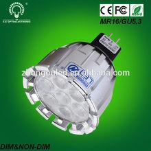 high quality high brightness best price 680lm MR16 led light mini spot