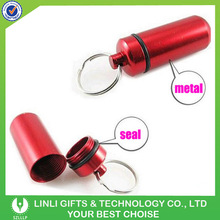Two parts Metal Red Pill Keyring
