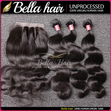 100% virgin hair HIGH QUALITY aliexpress brazilian hair wet and wavy virgin hair bundles with lace closure