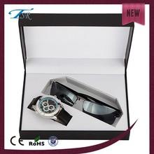 Men free logo fashion watch 2015, gift watch set with suglasses, gift watch set