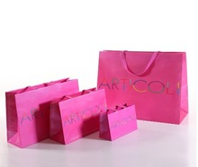 Paper Material and Flexo Printing Surface Handling printed art paper euro tote gift paper bag