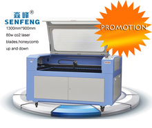 Promotion! New 80w Co2 Laser Cutting Engraving Machine Price,1300mm*900mm with CE,manufacturer