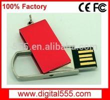 Colorful metal swivel USB drive 1GB 2GB 4GB 8GB 16GB 32GB 64gb