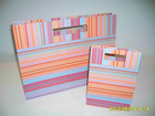 2014 hot sell stripes paper gift bags
