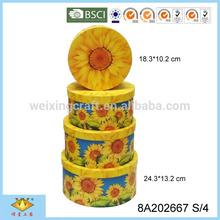 Sunflower Pattern Handmade Box Handicraft
