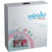 053A laser tap printing with rabbit figure kids toilet water flush tank
