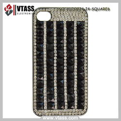 Rhinestone glittering 3D square gems in retro pattern perfect fit small case for iphone 4 /4s