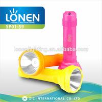 LONEN 2014 new arrival 1W light plastic most powerful emergency super bright focus work flashlight