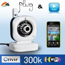 300K Pixels Wireless PTZ M-JPEG 32G TF Card web camera