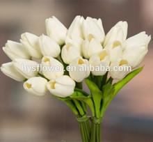 PU single stem decoration artificial tulip flower,Cheap artificial flower mini tulip