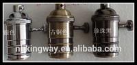 Vintage pendant Lighting Copper Brass Lamp holder fittig socket E26 E27