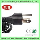3 pin plug and socket/power cords with molded plug/american fused plug power cord