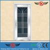 JK-SS9001 safety door design with grill/stainless steel door/iron entrance door