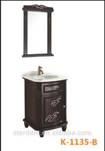 K-1135-B Popular bathroom mirror cabinet/floor standing bathroom cabinet/vintage bathroom cabinet