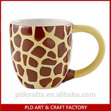 3D giraffe expresso ceramic cup mug,stoneware coffee mug set